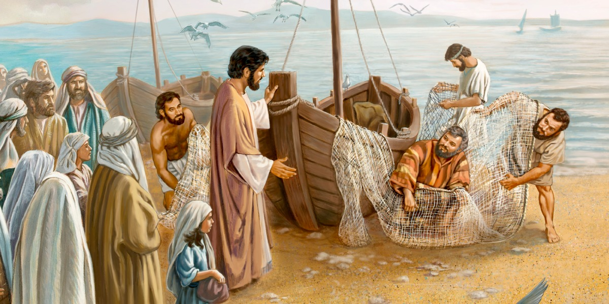 Jesus calls four fisherman