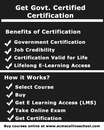 Govt. Certified Certification