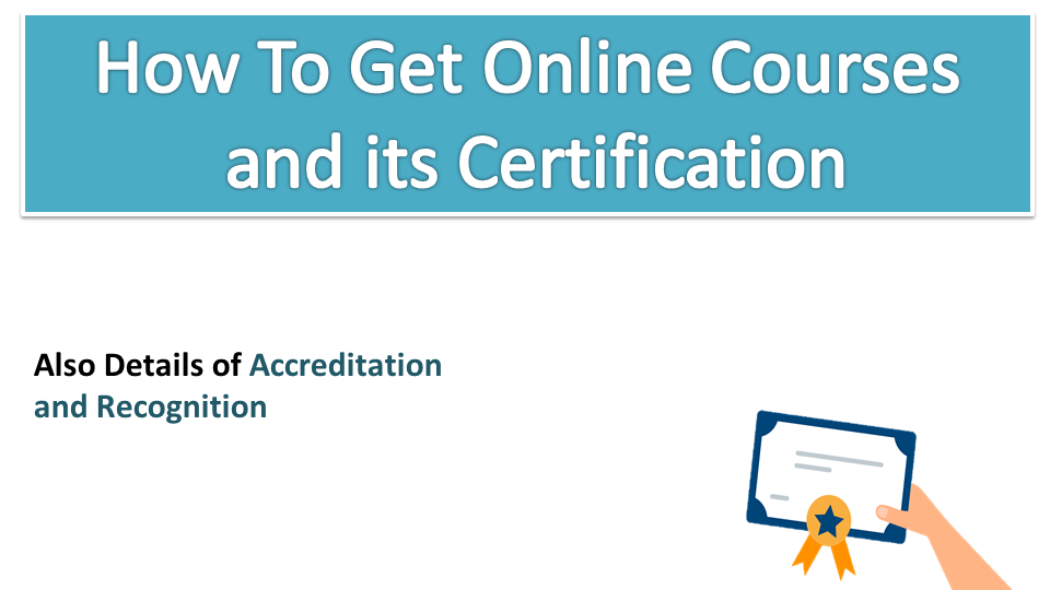 About accreditation and recognition